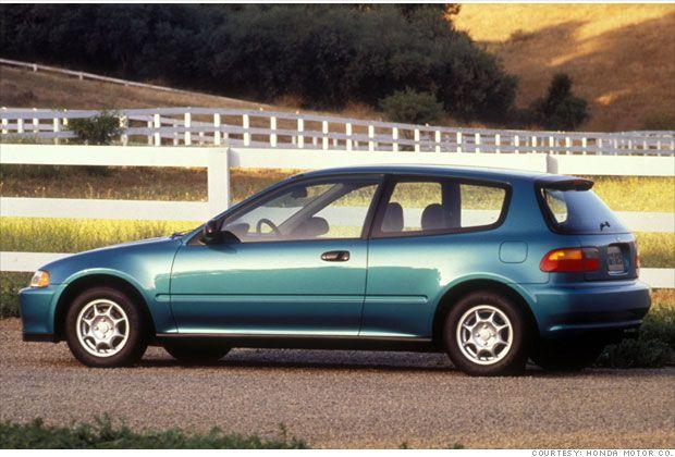 1994-1995 Honda Civic VX hatchback  39 mpg