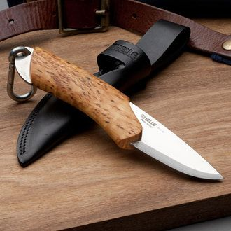 Norwegian Fire Knife Super-tough triple-laminated stainless steel Double-stitch snap-style leather sheath