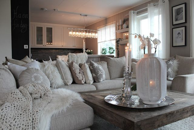 Light Gray Sectional With Different Soft Textures. Perfect, And If You Get  Bored You Can Add Pops Of Color Here And There. | Living Spaces | Pinterest  ... Part 52