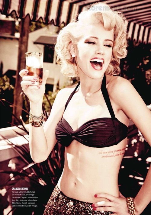Amber Heard, also I love her tattoo placement. that is gorgeous.