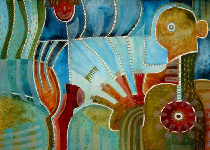 Na pouti Obraz pochází z nové kolekce obrazů vytvořených kombinovanou technikou, kterou jsme si upravila sobě na míru. Od kresby oblíbenými akvarelovými pastely jsem došla ke klasickému akvarelu. Akvarelové barvy jsou zkombinovány s akvarelovým pastelem, který po nastrouhání a rozpuštění ve vodě slouží jako běžné akvarelové barvy, pouze je sytější a ve větší ...