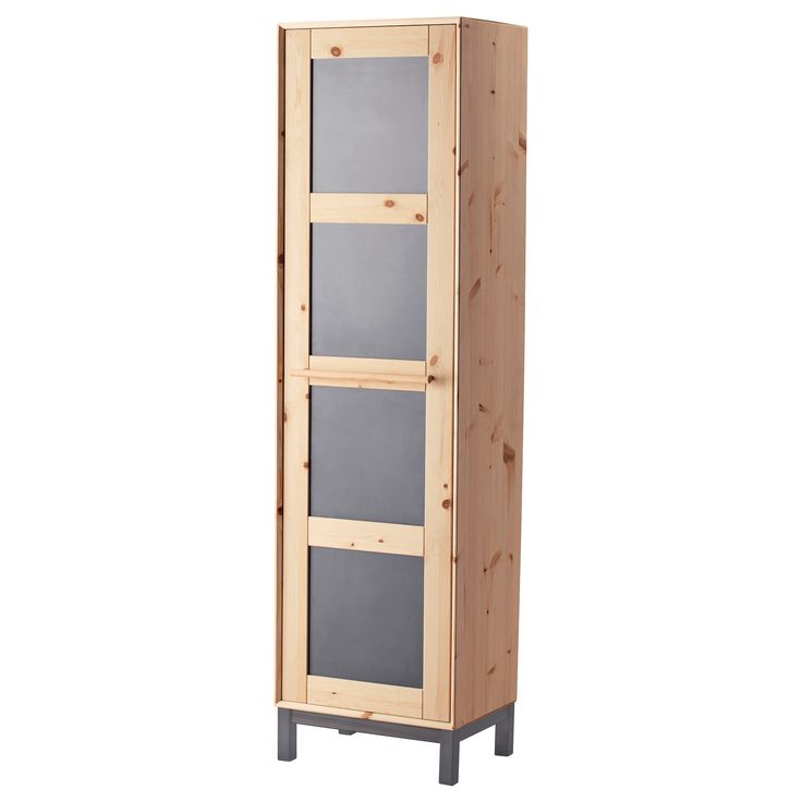 IKEA - NORNÄS, Wardrobe, Made of solid wood, which is a durable and warm natural material.Adjustable shelves make it easy to customize the space according to your needs.Easy to reach your clothes hanging in the back. Just pull out the rail.