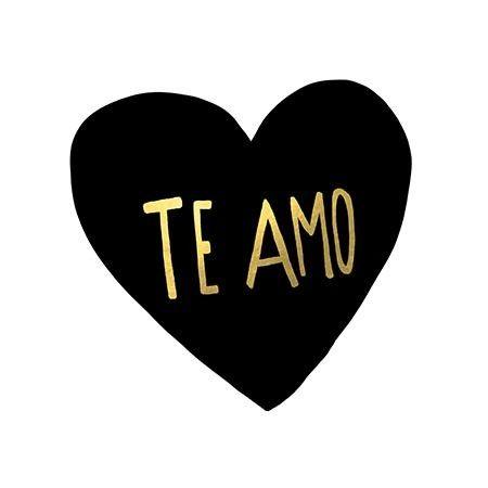 Te Amo by Leah Flores Textual Art on Canvas