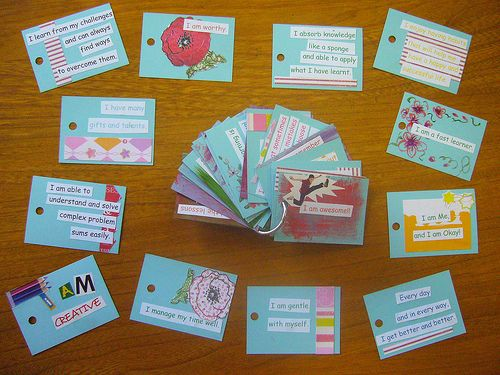 101 Affirmations for Children - make some of these cards to send to your sponsored child