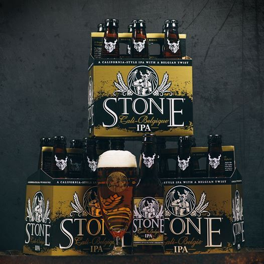 """Photo: Yesterday may have been Super Bowl Sunday, but this is our attempt to help make Monday """"super"""" for our fans - STONE CALI-BELGIQUE #IPA will soon be available in six-packs. #Craftbeer has no off-season!"""