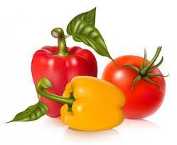 Pimientos y tomates