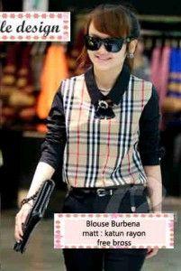 Hem Burbena Bahan: Katun Rayon, Free Bross Size: Fit L, Lebar dada/panjang: 46/60cm Kode Produk: S3555 Harga: Rp. 67.000