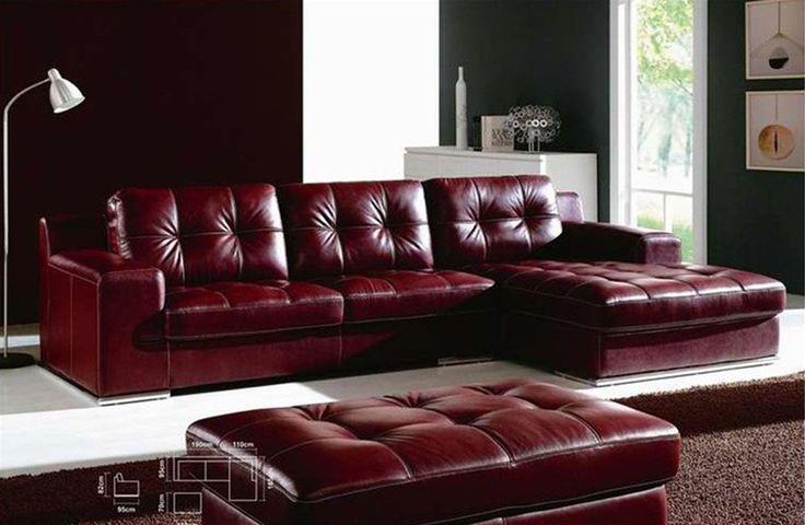 Contemporary Italian Handmade Sectional Corner. Sofa FurnitureFurniture  OnlineMaroon ColorLeather ...
