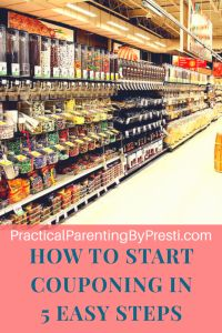 How to start couponing in 5 easy steps. Where to get coupons and how to use them. Publix listed.