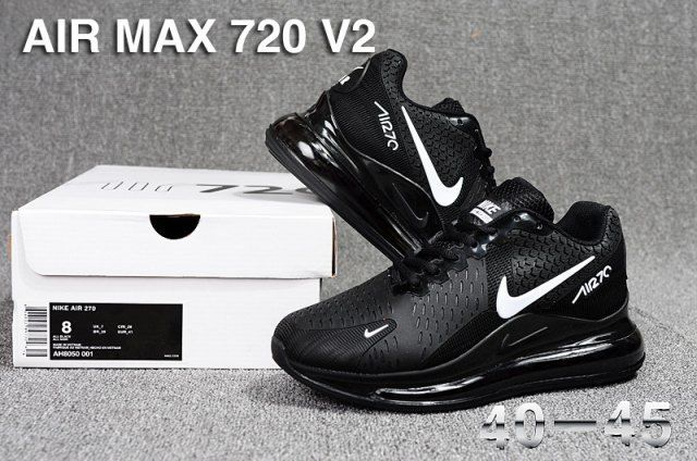 best service biggest discount newest Nike Air Max 720 V2 KPU Men's Running Shoes Black/White in 2020 ...