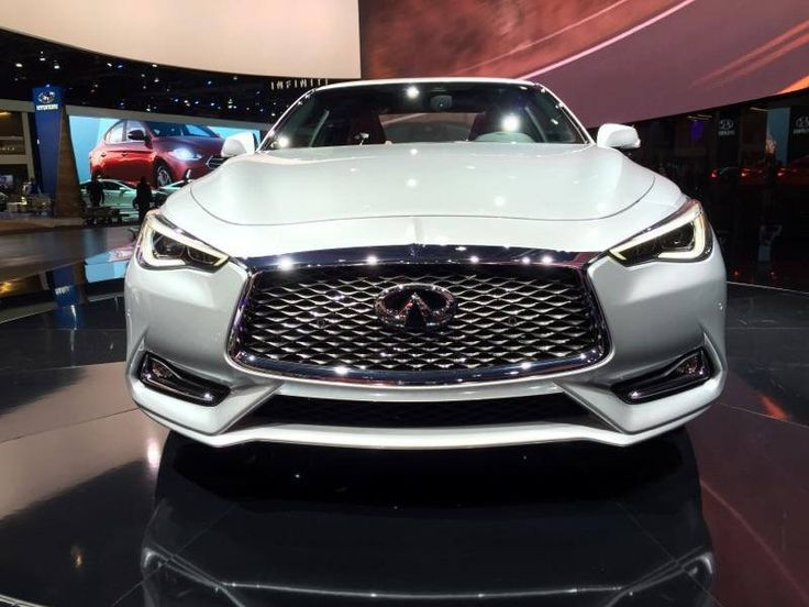 flic.kr/p/Dbg8tg | 2017 Infiniti Q60 Sport Coupe | 2017 Infiniti Q60 Sport Coupe front end in Silver.  Shot at the #NAIAS 2016 #infiniti #Q60 #convertible #2017 #Sport #coupe
