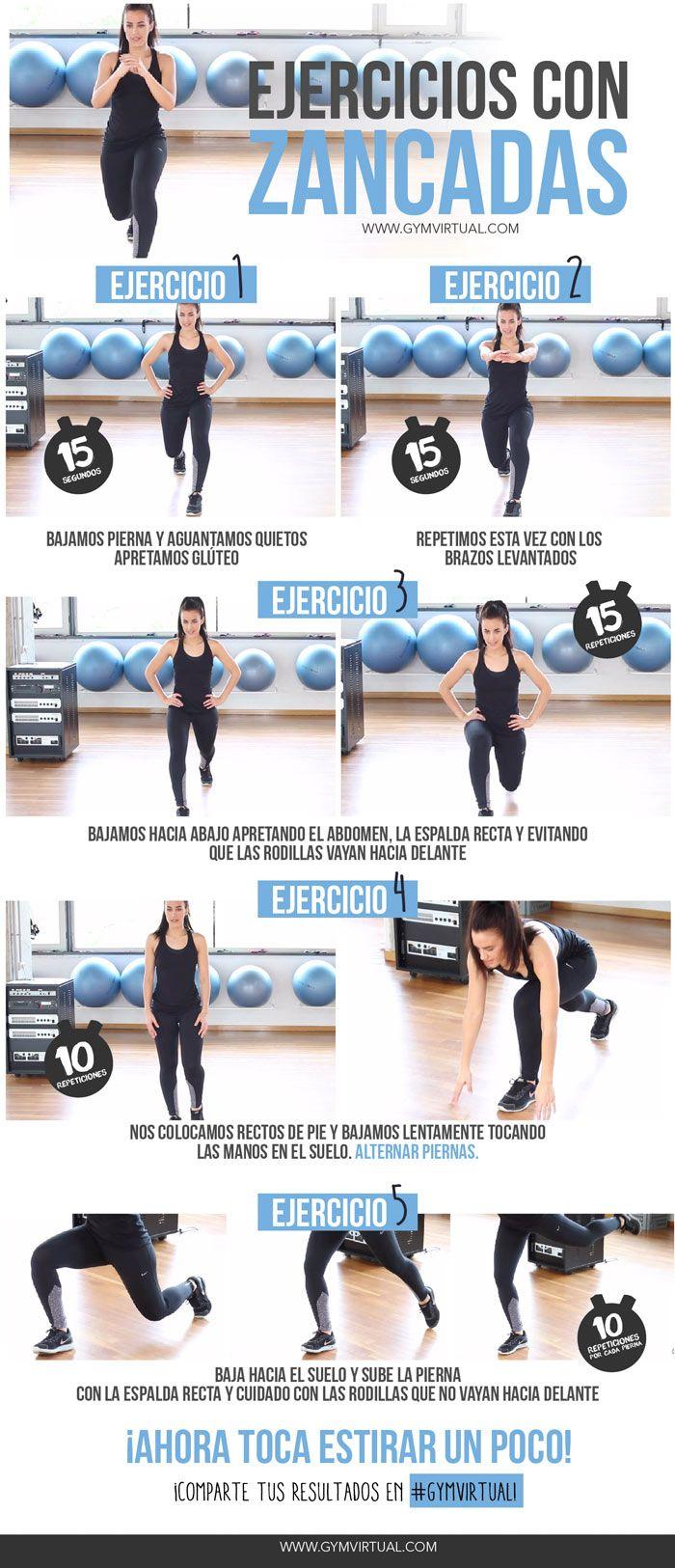 21 mejores im genes sobre rutina piernas en pinterest for Ejercicios de gym