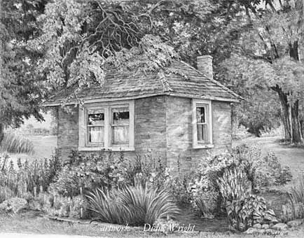 Summer Kitchen Gardens Graphite Pencil Drawing By Diane