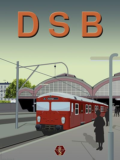 """DSB S-tog"" - Alfarvej Plakater"