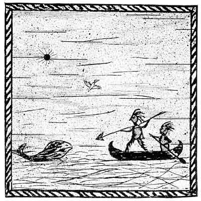 How Glooskap had a great Frolic with Kitpooseagunow, a Mighty Giant who caught a Whale.