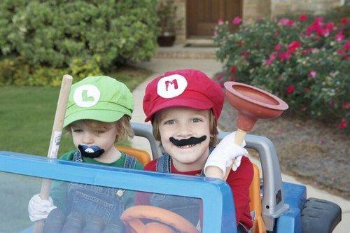 Super Mario Bros e Luigi |  #costumi di Halloween per #bambini