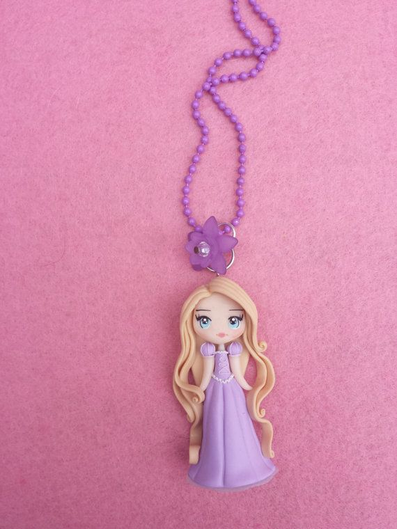 Rapunzel fimo Necklace, polymer clay