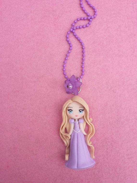 Rapunzel fimo Necklace polymer clay por Artmary2 en Etsy, €12.00