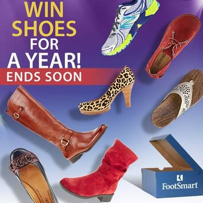 The Great Comfort Giveaway ends TODAY!! Nominate a friend who deserves comfortable shoes and you both could win free shoes for a year! Enter Now!: Free Shoes, Footsmart Giveaway, Comfortable Shoes, Win Free, Deserves Comfortable, Comfort Giveaway, Friend