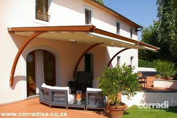 Pergotenda- Patio awnings with retractable roofs by Corradi contemporary outdoor products