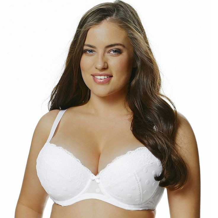 Perfects Australia Bra Kate Curve It Up Flocked Full-Coverage Balconette T- Shirt - 14UBR73, Women's, Size: 38 Dddd, White | Curves, Australia and  Products