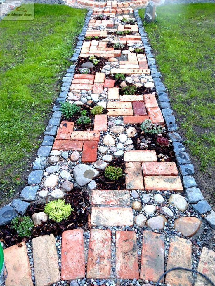 42 Erstaunliche Ideen für DIY-Gartenwege und Gehwege #gardening
