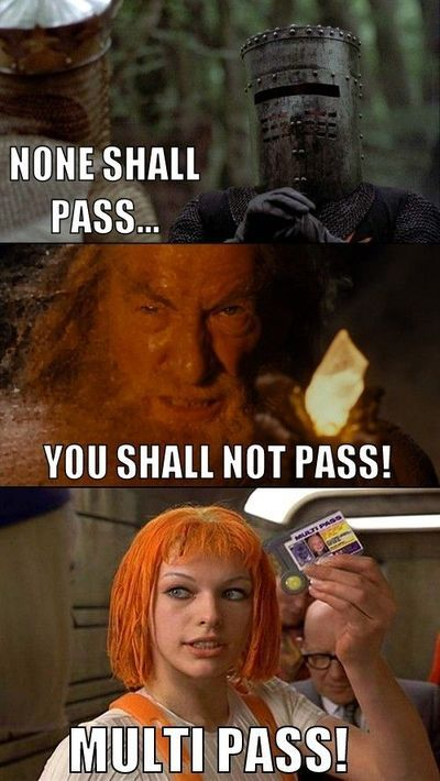 Monty Python + LOTR + The Fifth Element = AWESOME