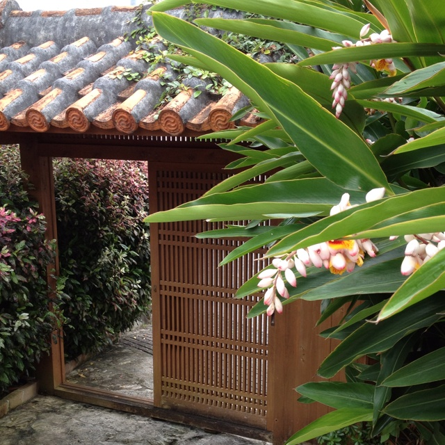 Traditional Okinawan House with Getto-flower