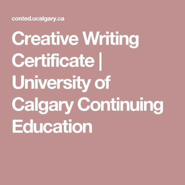 Postbaccalaureate Studies | Courses | Creative Writing