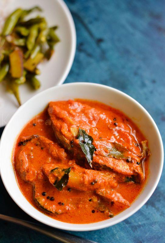 Meen Manga Curry   Kerala Fish Curry with Raw Mango   kurryleaves
