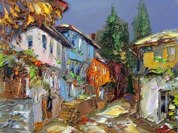 (1653) 40 Lukisan Pemandangan Georgi Petrov Artwork - SENI RUPA