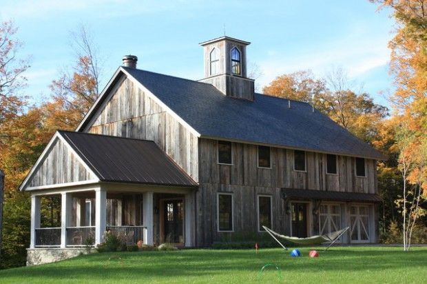 17 best ideas about rustic houses exterior on pinterest for Rustic pole barn