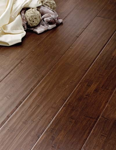 Dark Stained Bamboo Floors Through Expect Kitchen, Bathrooms And Laundry