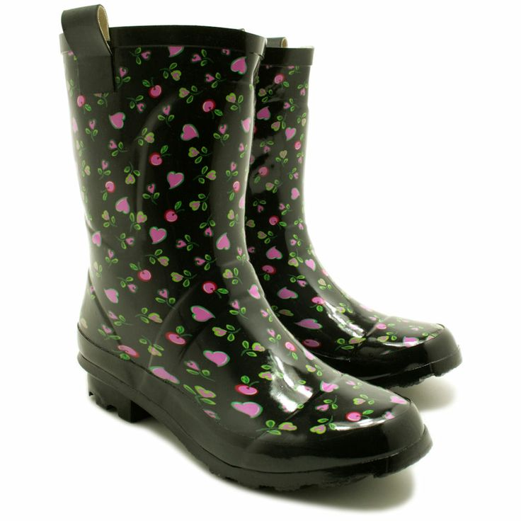 New Womens Festival Wellies Wellington Wide Calf Fitting Short Rain Boots Size | eBay