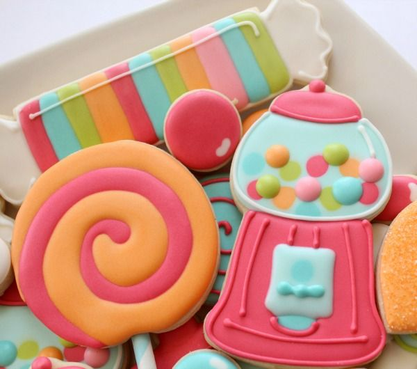 How to decorate gumball cookies plus other cute candy cookies