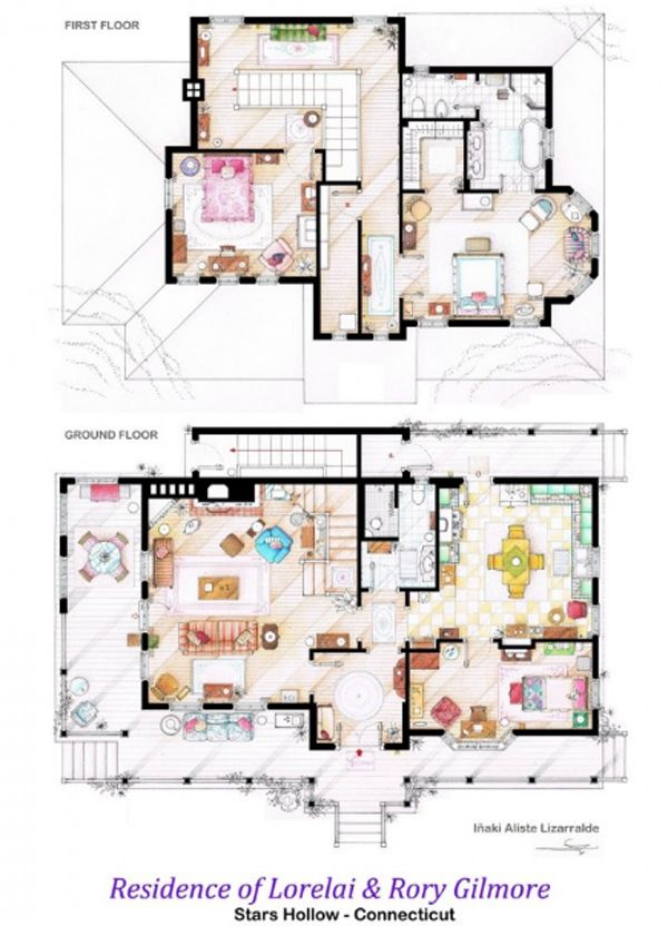 Waltons tv show house plans for Walton house floor plan