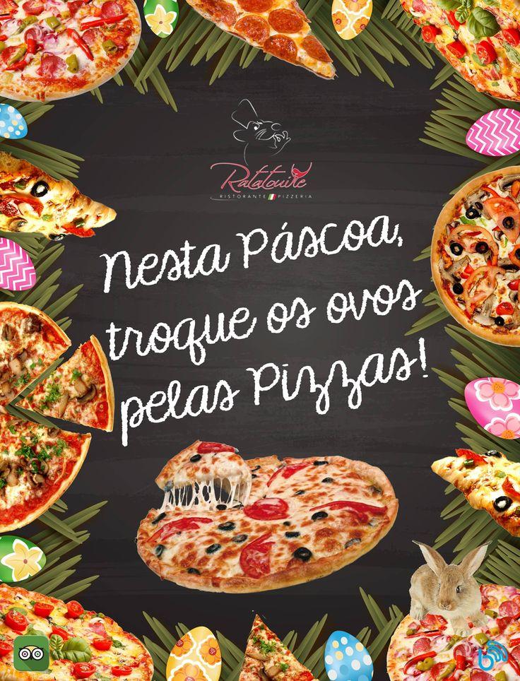 #pizza #food #design #ratatatoille #pornfood #yummy #easter #pascoa #chocolate #bunny