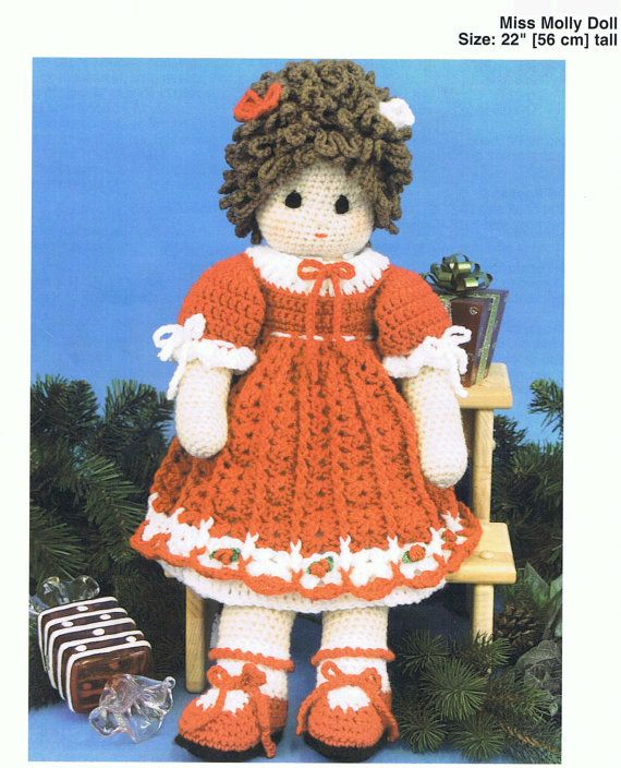 Crochet Miss Molly Doll Vintage Pattern by VintagePatternPDF