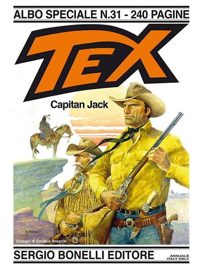 Capa de Capitan Jack, Tex Gigante italiano nº 31