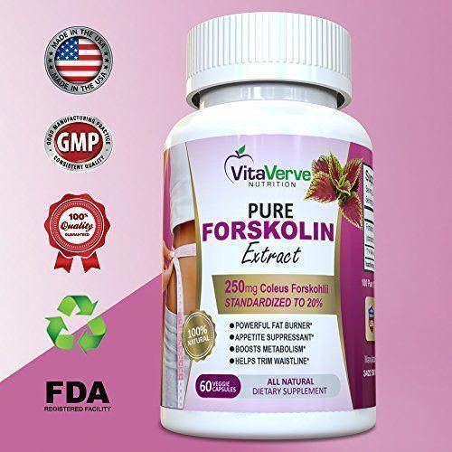 100% Pure Forskolin Extract For Extreme Weight Loss  Best Fat Burner Metabol #be...