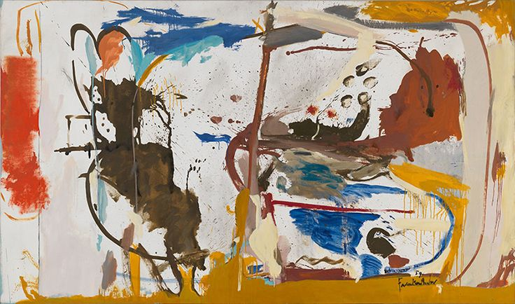 """<p>Helen+Frankenthaler+was+introduced+early+in+her+career+to+major+artists+such+as+Jackson+Pollock,+Franz+Kline+and+Robert+Motherwell,+whom+she+later+married.+She+invented+the+""""soak-stain""""+technique,+in+which+she+poured+turpentine-thinned+paint+onto+canvas,+producing+luminous+color+washes+that+appeared+to+merge+with+the+canvas.+Her+breakthrough+…</p>"""
