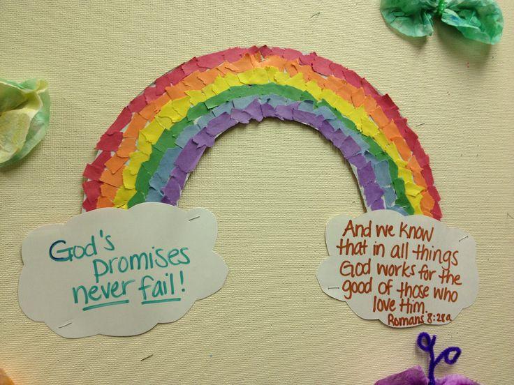 Rainbow Collage God S Promise Keep Kids Creative