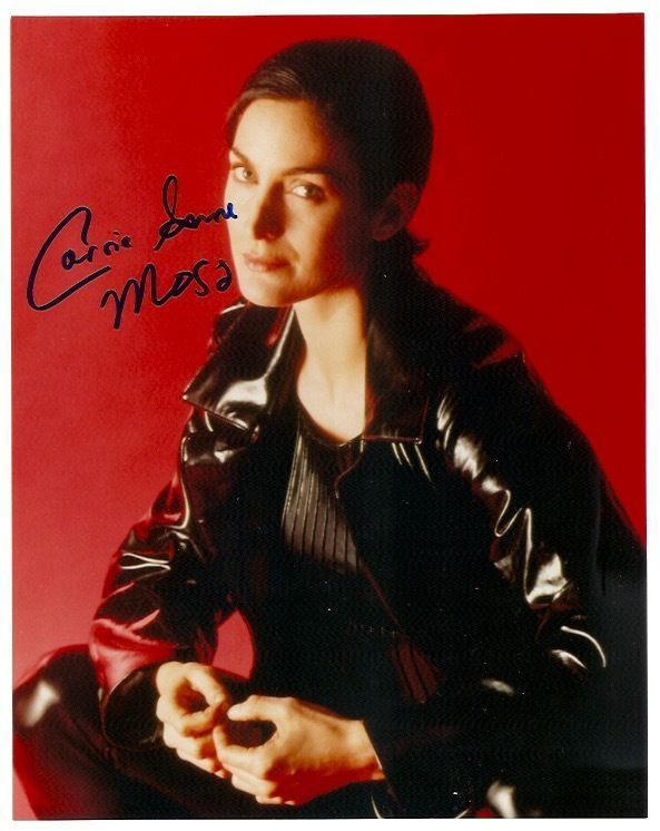 Carrie-Anne Moss Matrix Red Planet Daredevil Autographed Signed 8x10 Photo w/COA