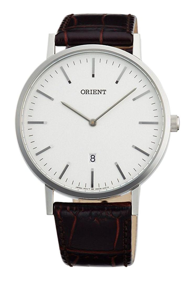 Amazon.com: ORIENT Slim Collection Minimalist Japanese Quartz White Watch FGW05005W: Watches