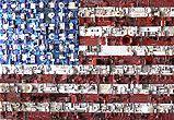 Flag, (d'après Jasper Jones). Composants électroniques. Format 107 X 154 cm. 2010