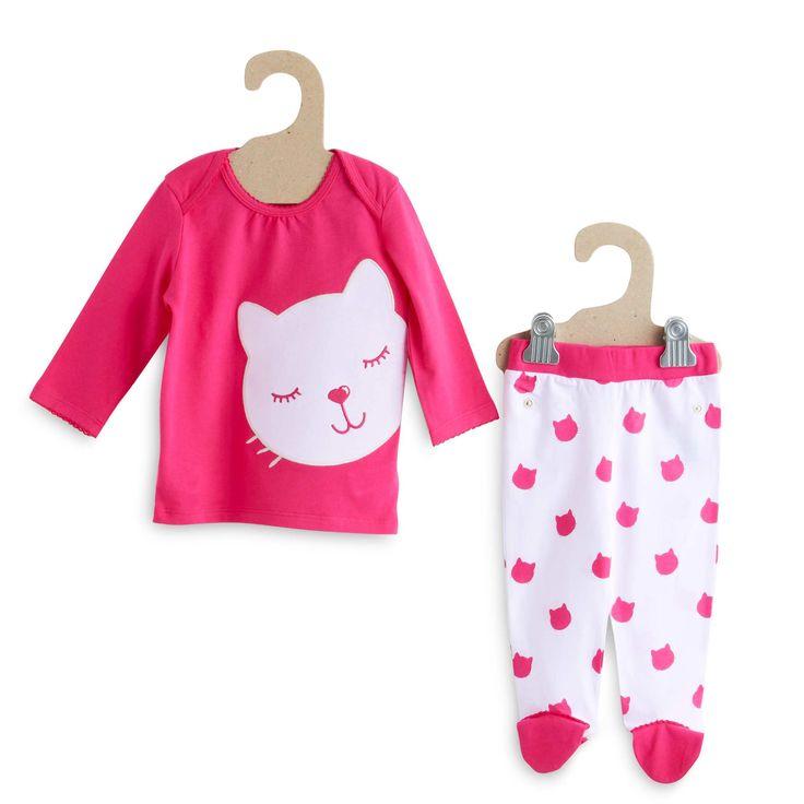 Pijama de punto gato Infantil niña