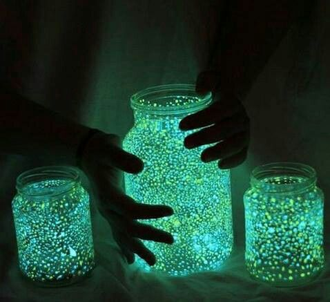 fairies in a jar cut a glow stick and shake contents into a jar 1. add glitter 2. seal jar 3. shake well