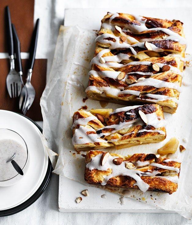 Caramelised apple Danish with cardamom icing recipe :: Gourmet Traveller