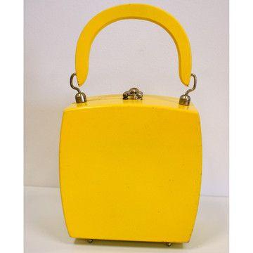 yellow!Yellow Handbags, 60S Yellow, Yellow Wood, Fashion Bags, Fun Things, Wood Boxes, Boxes Handbags, Bags Lady, 60S Handbags