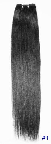 Weft without clip extension:29″ 75cm 5oz(141g) Straight Indian Remy Human Hair Thick Ends,color 30 Available,wavy Available. #1 Jet Black | ...